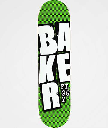 "Baker Figgy Stacked Checkers 8.5"" Skateboard Deck"