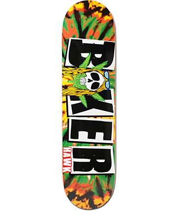"Baker Hawk Icon Rasta 8.0""  Skateboard Deck"