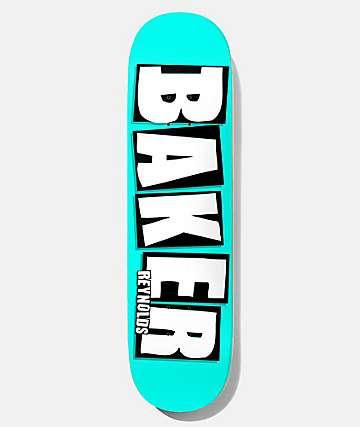 """Baker Reynolds Neon Blue 8.0"""" Skateboard Deck"""