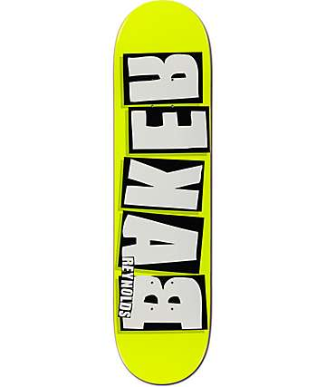 "Baker Reynolds Rekab Yellow 8.0""  Skateboard Deck"