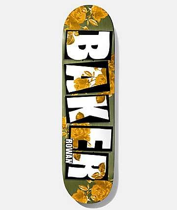 "Baker Rowan Rose Gold 7.75"" tabla de skate"