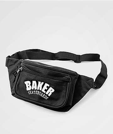 Baker Stacked Black Shoulder Bag