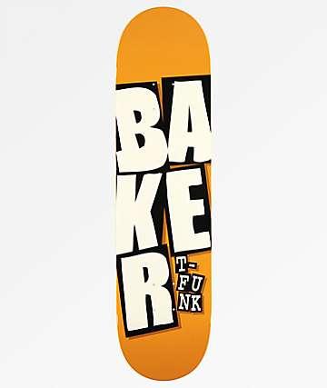 """Baker T-Funk Stacked 8.0"""" Camel Skateboard Deck"""