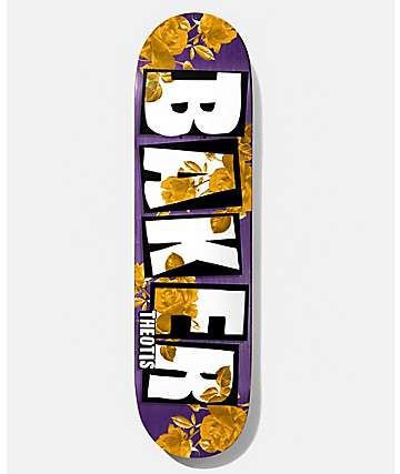 "Baker Theotis Rose Gold 8.25"" tabla de skate"
