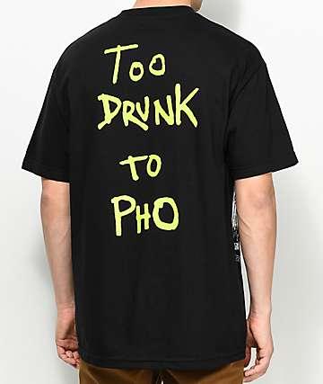 Baker Too Drunk To Pho camiseta negra