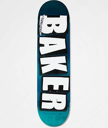 """Baker Turquoise Foil 8.25"""" Skateboard Deck"""