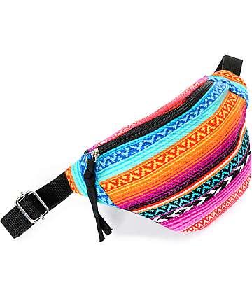 Barganza Southwest Riñonera patrón azteca multicolor