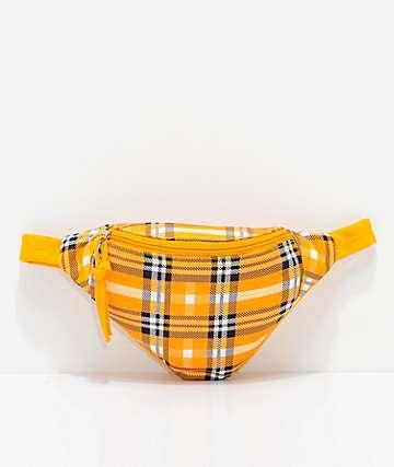 Barganza riñonera de tartán en color amarillo