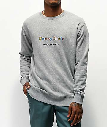Barney Cools Embro Grey Crew Neck Sweatshirt
