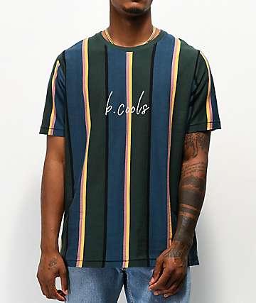 Barney Cools Script Blue & Green Stripe T-Shirt