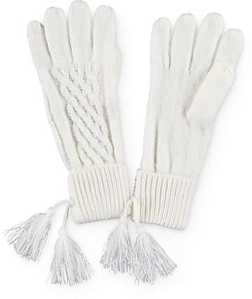 Basic Knit Ivory Gloves