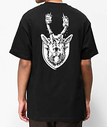 e45ce5fd5 Beer Savage 805 Horns Black T-Shirt