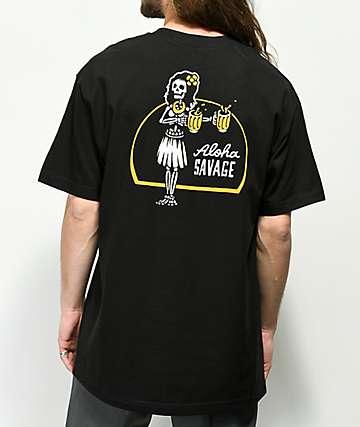 Beer Savage Aloha Savage Black T-Shirt