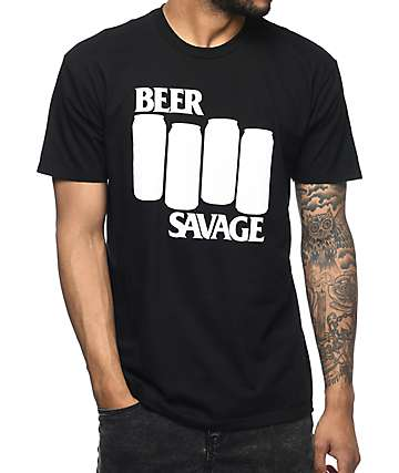 Beer Savage Annihilated Black T-Shirt