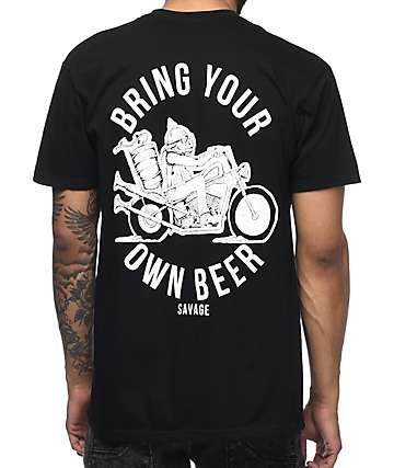 Beer Savage BYOB Black T-Shirt