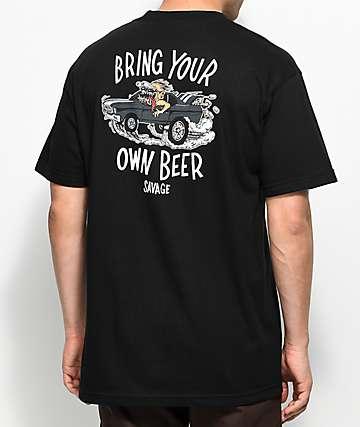 Beer Savage BYOB Hot Rod camiseta negra