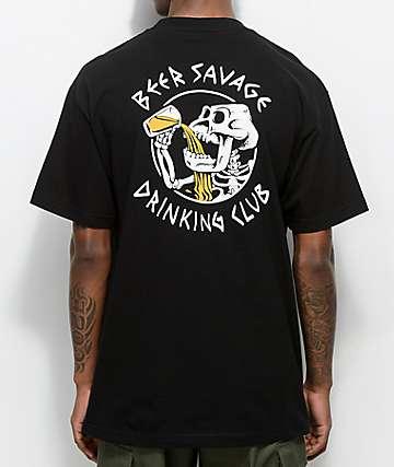Beer Savage Bone Club camiseta negra