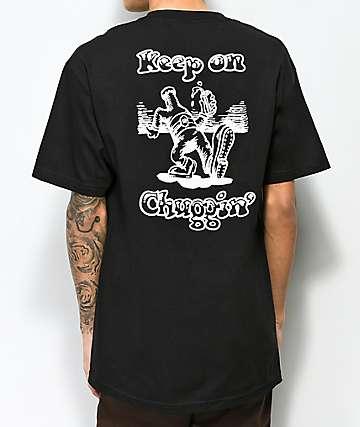 Beer Savage Chuggin Black T-Shirt