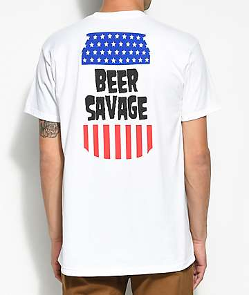 Beer Savage Domestic White T-Shirt