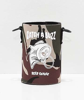 Beer Savage Fish Buzz Leisure PS Beverage Sleeve