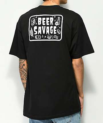 Beer Savage Flash Black T-Shirt