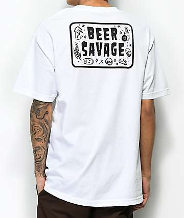 Beer Savage Flash White T-Shirt