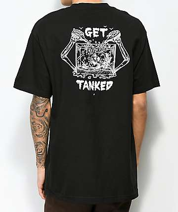 Beer Savage Get Tanked Black T-Shirt