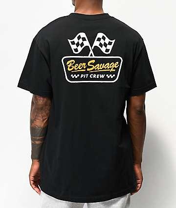 Beer Savage Pit Crew Black T-Shirt