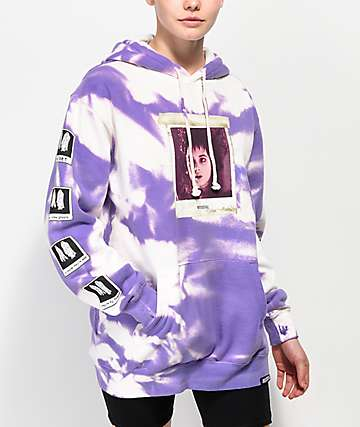 Beetlejuice x Broken Promises Dark Room Purple Tie Dye Hoodie