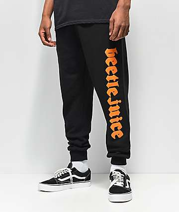 Beetlejuice x Broken Promises Pitchfork Black Sweatpants
