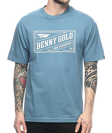 Benny Gold Classic Stamp Blue T-Shirt