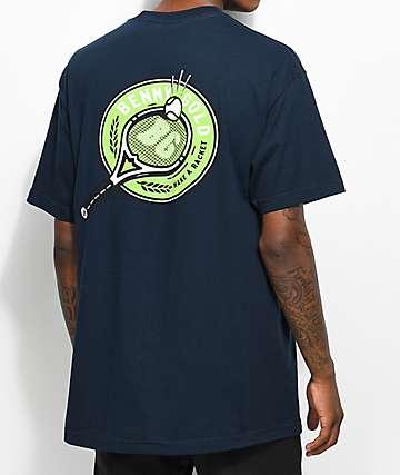Benny Gold Court camiseta en azul marino con bolsillo