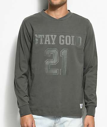 Benny Gold Field Charcoal Long Sleeve T-Shirt