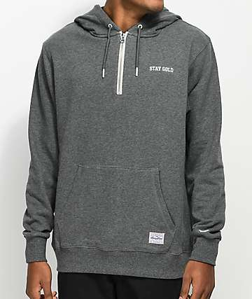Benny Gold Goal Post Grey Quarter Zip Hoodie