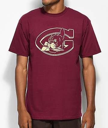 Benny Gold Mascot camiseta borgoña