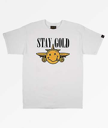 Benny Gold Nevermind White & Gold T-Shirt