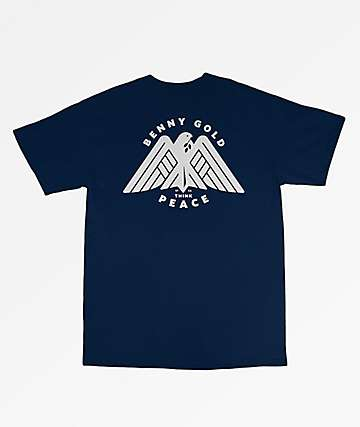 Benny Gold Peace Navy T-Shirt