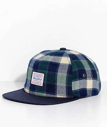 Benny Gold Venture Green Flannel Strapback Hat
