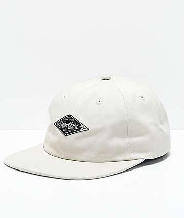 Benny Gold gorra de sarga blanca con etiqueta de diamante