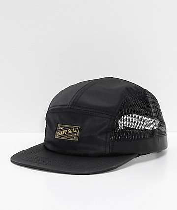 8dba859d3ae Benny Side Mesh Black Strapback Hat