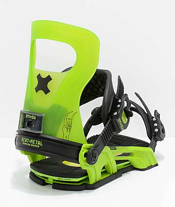 Bent Metal Logic Green Snowboard Bindings