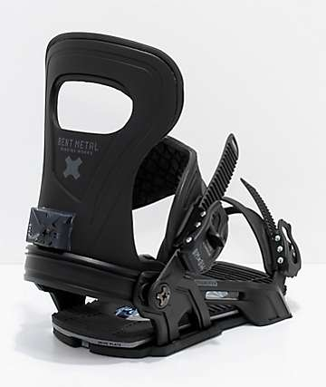 Bent Metal Transfer Black Snowboard Bindings