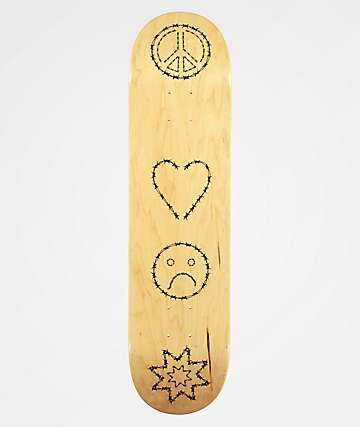 "Best Skate Co. Peace Love and BS 7.75"" Skateboard Deck"