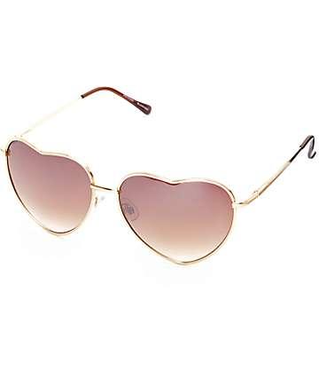 Big Luv gafas de sol doradas