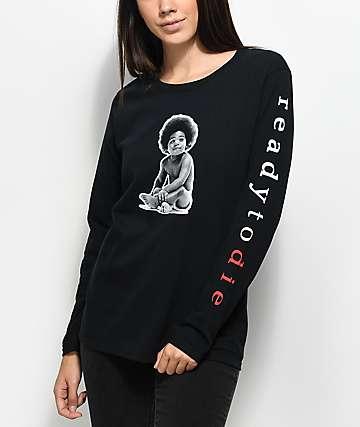 Biggie Baby Ready To Die camiseta negra de manga larga