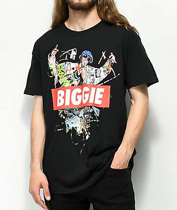 Biggie Hands Up Black T-Shirt