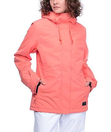Billabong Akira Coral Floral Hood 10K Snowboard Jacket