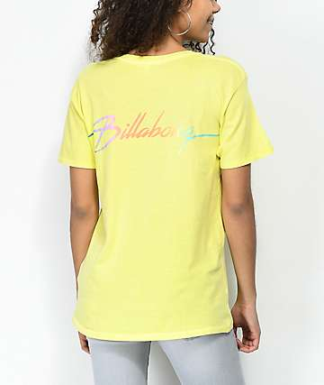 Billabong Beach Daze New Wave Yellow T-Shirt