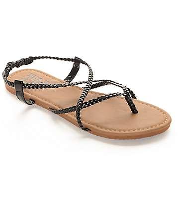 Billabong Crossing Over Black Sandals