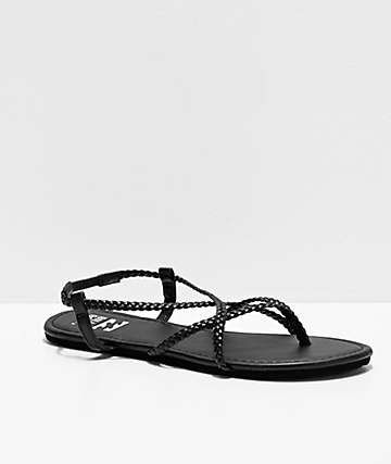 Billabong Crossing Over Black Sandals